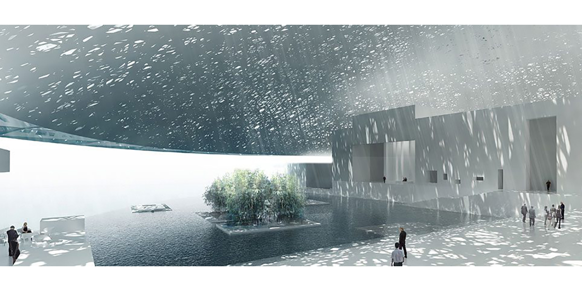 Louvre Abu Dhabi, Dialogue du vent et de la mer